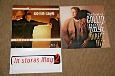 "2 COLLIN RAYE PROMO POSTER FLAT ""DIRECT HITS"" & ""TRACKS""  BOTH 2 SIDED"