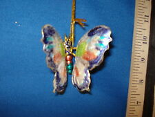 Butterfly Ornament Cloisonne Blue Silver and Red 58202A 140