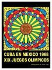 Decorative Poster.Interior wall art design.Mexico Olympics.Calendar Maya.4060