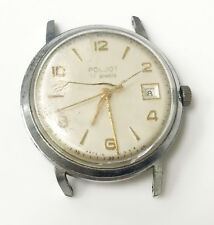 Poljot Made in Russia 17 Jewels 4296332 Wind Up Silver Case Cream Dial Watch