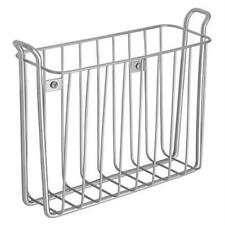 ❤ Home Dorm Bathroom Toilet Wall Mount Magazine Rack Spaper Steel Silver Ideal