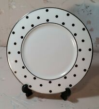 DINNERWARE-Color Studio Black and Platinumby MIKASA -Accent Salad Plate 8 1/2""