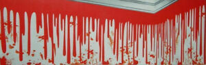 DRIPPING BLOOD Scene Setter Halloween party wall border decoration 25 ft banner