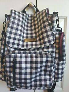 Ju Ju Be Jujube Be Sporty Gingham Style Backpack Messenger Diaper Bag