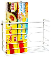 Wrap Organizer Rack Holder Foil Wall Mount Cabinet Door Pantry Kitchen Storage