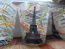 Leonardo Tumbler Glasses x six, Eiffel Tower / metro underground design new box