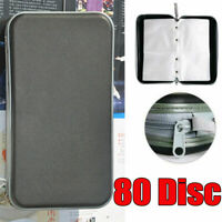 80 Sleeve CD DVD VCD Blu Ray Disc Carry Case Holder Bag Wallet Storage Organizer