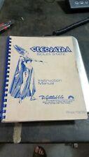 Gottlieb Cleopatra Pinball 1977 manual