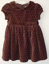 NWT Gymboree Sweet Treats Polka Dot Velveteen Dress Girl's 18-24M