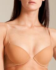 La Perla Evelina 36B M Push Bra G-String Set Nude Beige New