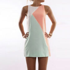Women Ladies Short Mini Dress Summer Beach Tunic Sleeveless Tank Vest Sun Dress