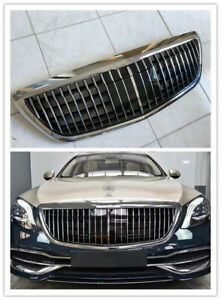 Front Grille For Mercedes Benz S class W222 Maybach Style No ACC  S65 S63