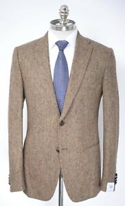 NWT Men's CARUSO VM211F Olive Worsted Wool Slim Sport Coat Jacket 40 9R (EU 50)