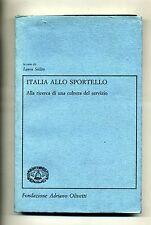 ITALIA ALLO SPORTELLO # Fondazione Adriano Olivetti 1991