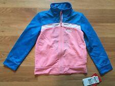 NWT Girl's PUMA Pink Blue White Track Jacket Size 4