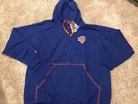 NWT New York Knicks Majestic Big & Tall Full-Zip Hoodie - Blue Size 4X