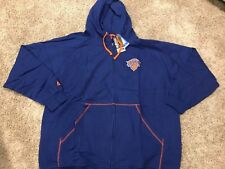 NWT New York Knicks Majestic Big & Tall Full-Zip Hoodie - Blue Size 4X