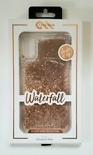 NEW CaseMate Waterfall Case Cover Apple iPhone XS Max Gold Glitter 10FT DROP