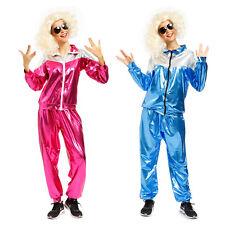 Mens Ladies Retro 80s Metallic Scouser Shell Suit Tracksuit Fancy Dress Costume