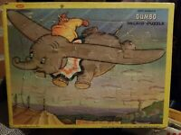 Vintage DUMBO Walt Disney Productions Inlaid Children's Jigsaw Puzzle by JAYMAR