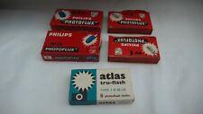 Mixed Joblot of 18 x PHILLIPS PF1B PHOTOFLUX FLASHBULBS & Atlas Truflash Bulbs