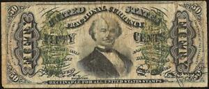 50 CENT FRACTIONAL CURRENCY UNITED STATES SPINNER NOTE OLD PAPER MONEY
