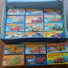Vintage Matchbox Lesney Lot Of 23 Cars Trucks In Original NM boxes Generic Case