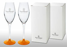Veuve Clicquot Crystal Champagne Flutes X 2 New & Boxed