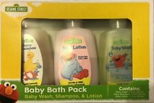 Sesame Street Baby Bath Packs, 3-pc. each including baby wash, shampoo, & lotion