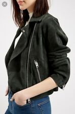 TOPSHOP FOREST GREEN SUEDE CADDY JACKET SIZE US10 UK14