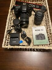 Canon EOS 7D Mark 1 18.0MP Digital SLR Camera - Canon18-135 MM IS  + 80-200 Lens