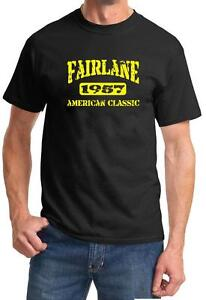 1957 Ford Fairlane American Muscle Car Color Design Tshirt NEW Free Ship