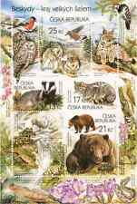 Czech - Nature Protection - The Beskid Mountains -2014 miniature stamp sheet new