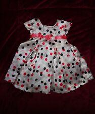 "Carpatina Doll Dress Fits American Girl & Other 18"" Dolls Polka Dots on Satin"