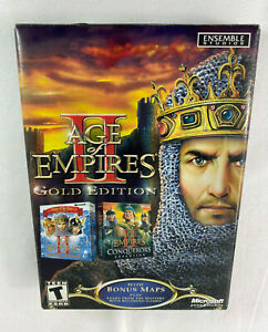 Age Of Empires II (2) Gold Edition Microsoft PC Game Brand New Factory Sealed