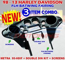 95-HDIF 1998 - 2013 HARLEY DAVIDSON FLH BATWING FAIRING DOUBLE DIN METRA INSTALL