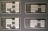 Four (4) Vintage Aluminum BOEING AIRCRAFT COMPANY TOOL BADGES ~ Blank ~ UT-6904