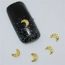 50pcs 3D Nail Art Decoration Golden Moon Charms Acrylic Sticker Manicure Tools