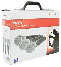 DYNAMIC palmare Microfono Set di 3 alta qualità Mics + Custodia di volo + PORTA
