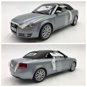 1/18 Norev Audi A4 Cabriolet 2006 Quartz Grey Neuf En Boite Livraison Domicile