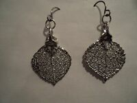 GENUINE ROCKY MOUNTAIN ASPEN LEAF EARRINGS~SILVER~NEW!!