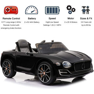 For Bentley 12V Kids Ride On Truck Car w/Remote Control LED Lights 2 Speed Music