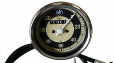 BMW 0-120 MPH MOTORCYCLE SPEEDO REPLICA FITS MANY MODELS SMITHS WITH CABLE NEW .