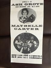 MOTHER MAYBELLE CARTER  New Lost City Ramblers 1963 Concert Poster Handbill