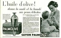 Publicité ancienne savon Palmolive 1933 issue de magazine
