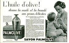 Publicité Ancienne  Savon Palmolive  1933