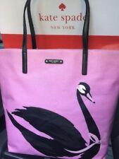 KATE SPADE BON SHOPPER SWAN AROUND TOTE/BAG Lilac & BLACK SWAN  NWT