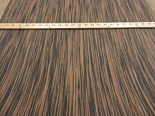 "Ebony Macassar composite wood veneer 24"" x 96"" with no backing 1/40"" thick (VH)"