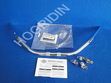 Harley softail flstc 1 1/4 fat handlebar handlebars risers brake line   56364-02