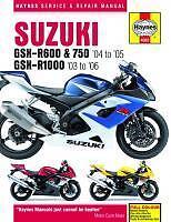 Haynes Manual De Taller Suzuki Gsxr Gsxr600 Y Gsxr750 2004-05 & Gsxr1000 2003-2008